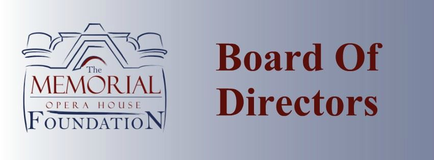 Memorial Opera House Foundation Board Of Directors Page Banner